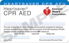 heartsaver cpr aed layperson american heart ociation cpr certification lost card big food handlers certificate