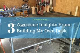 When I left the corporate workforce to start my consulting firm my first  steps was to build my desk. I repurposed wood discarded from a coffee shop  build ...