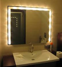 lighting behind mirror. Bathroom Mirror With Lights Behind Best Design Lighting Led For India