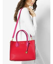 michael kors mercer large color block leather tote