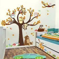 owl wall stickers monkey animal jungle