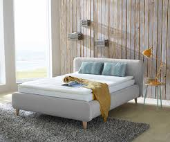 Architektur Bett 140x200 Grau Ausgezeichnet Polsterbett