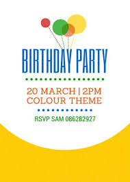 Birthday Party Invitation Customize 2 040 Birthday Invitation Templates Online Canva