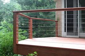 cable wire deck railing glass and cable railings diy cable wire deck railing