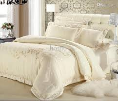 ivory comforter set queen whole luxury white silver gold silk satin bedspreads 9
