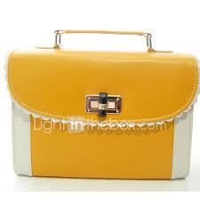 Light In The Box Handbags Women Tote Pu Casual Yellow Fuchsia Brown Blue Light Green