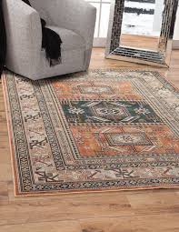 orange area rug in ovid reviews allmodern decorations 6