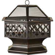 uniflame fire pit. Uniflame Bronze Outdoor Wood Burning Fire Pit With Lattice Reviews