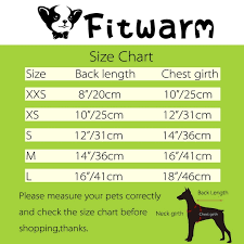 Pet Clothes Size Chart Details About Fitwarm Thermal Winter Dog Sweater Dress Knitted Pet Clothes Coat Party Apperal