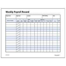 Weekly Employee Payroll Form Google Search Construction Forms