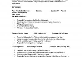 Phlebotomy Resume Template Free Download Professional Phlebotomist ...