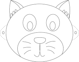 2b8443e6d89651557894d4ca41589ab4 cat mask printable coloring page for kids image patterns on happy face mask template
