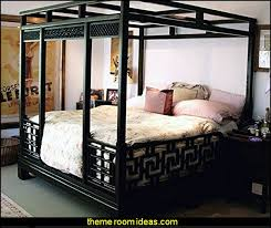 oriental bedroom asian furniture style. Chinese Canopy Bed Oriental Furniture Decorating Asian Themed Bedroom Style