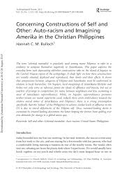 PDF) Concerning Constructions of Self and Other: Auto-racism and ...