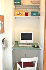 mesmerizing floating computer office table with floating shelves added white chairs in small room closet office designs