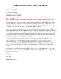 Glamorous Sample Cover Letter For Chemical Engineering Internship
