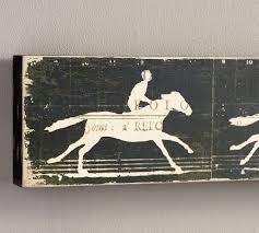 pottery barn horse canvas wall art