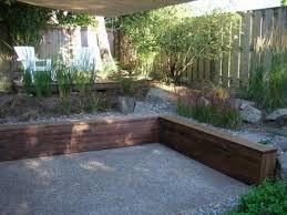 wood retaining wall design ideas photo 1