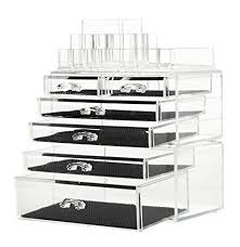 finnhomy makeup organizer acrylic cosmetic organizer jewelry storage organizer counter storage case large display drawer 3
