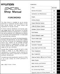 1991 hyundai excel wiring diagram and electrical system 1991 hyundai excel repair shop manual original 1991 hyundai excel wiring diagram and electrical system troubleshooting