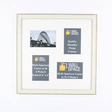 now square white multi aperture frame to fit 4 photo s