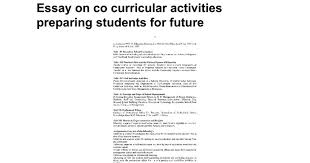 essay on co curricular activities preparing students for future  essay on co curricular activities preparing students for future google docs
