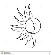 эскиз луны и солнца на белой предпосылке татуировка иллюстрация
