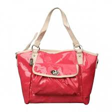Coach Bleecker Riley Carryall Small Red Satchels 20879. Loading zoom
