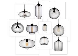 blown glass pendant lights beautiful house inside hand ideas