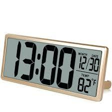 wall clocks large wall digital clock square series jumbo alarm display with temperature
