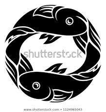 Stock Vektory Na Téma Astrology Zodiac Signs Circular Pisces Fish