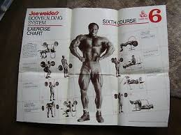 Joe Weider S Bodybuilding System Book And Charts Rare Vintage Joe Weider Body Building Exercise Chart 6
