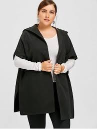 plus size parka plus size hooded cape coat black plus size jackets coats 5xl zaful