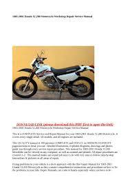 calaméo 1983 2001 honda xl200 motorcycle workshop repair service calaméo 1983 2001 honda xl200 motorcycle workshop repair service manual