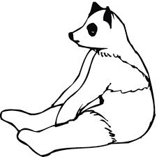 Zittende Panda Wit Kleurplaat Gratis Kleurplaten Printen