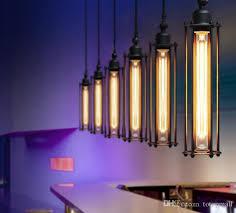 edison pendant lighting. Edison Vintage Pendant Lamp Loft Wrought Iron Chandeliers Dining Room Retro Flute Hanging European Indoor Lighting E