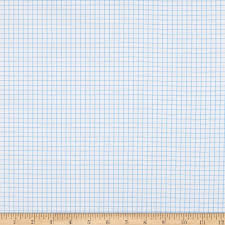 Kaufman Out Of Print Graph Paper Blue Fabric