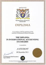 Международные сертификации по МСФО Финансовому менеджменту и  диплом по МСФО и Финансовому учету dipias