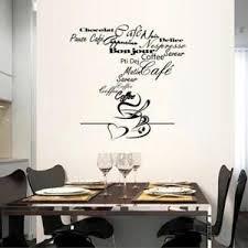 Noir Cuisine Café Stickers Muraux Décoration De La Maison 1147 Fond