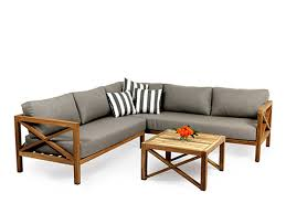 Outdoor Lounge Sofas Fabulous Teak Outdoor Lounge Weathered Teak Furniture