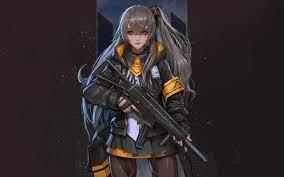 Indir duvar kağıdı Bir silah ile kızlara Cephe, Japon anime oyun, kız,  koruyucu giysi çözünürlüğe sahip monitör 2560x1600. Masaüstünde Resimleri