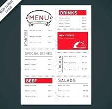Restaurant Menu Template Chinese Design Templates