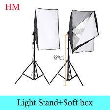 photography rectangle continuous softbox lighting kit 2pcs 50x70cm softbox 2pcs light holder stand photo studio
