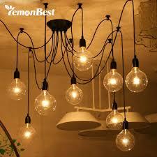 edison lighting fixtures. Lemonbest Edison Lights Industrial Style Home Lighting Vintage Loft Chandelier Fixtures DIY Lamps With 8 Heads-in Chandeliers From |