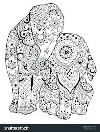 coloring page elephant free printable elephant coloring pages for