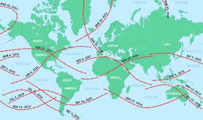 World Map Of Upcoming Solar Eclipses Exploratorium