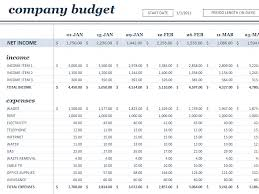 Business Budget Templates Blue Layouts