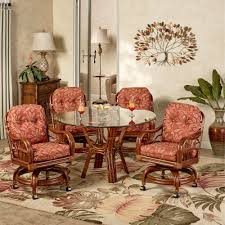 tropical dining room furniture. delighful tropical leikela round dining table with caster chairs papaya medley set of  five to tropical room furniture