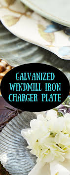 So perfect for spring and easter dinner or the beach house. I love these.  Our iron charger is crafted with a windmill-inspired pleated border and ...