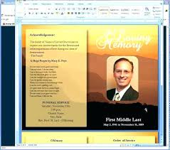 Microsoft Publisher Program Template Free Download Funeral Program Template Sociallawbook Co